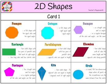 Classroom Bingo - 2D Shapes