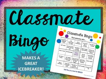 Classroom Bingo Icebreaker