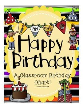 Classroom Birthday Chart!