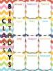 Rainbow Chevron Classroom Birthday Poster Display