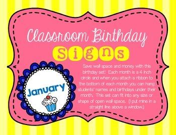 Classroom Birthday Poster Kit- FREE