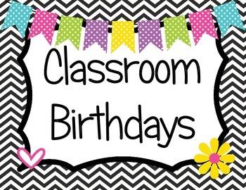 Classroom Birthdays Owl Theme
