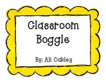 Classroom Boggle!