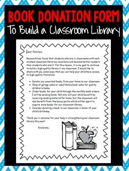 Book Donation Parent Letter