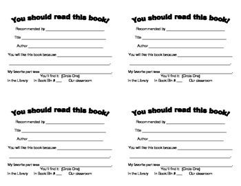 Classroom Book Recommendation