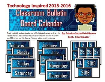 Technology: Classroom Bulletin Board Calendar