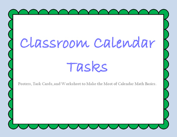 Classroom Calendar Math Tasks