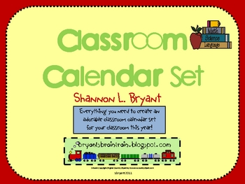 https://www.teacherspayteachers.com/Product/Classroom-Calendar-Set-142434