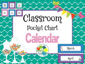 Classroom Calendar in Candy Shop Theme