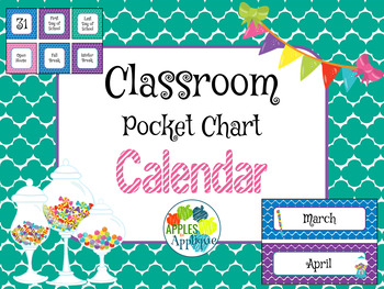 Classroom Calendar in Candy Shop Theme
