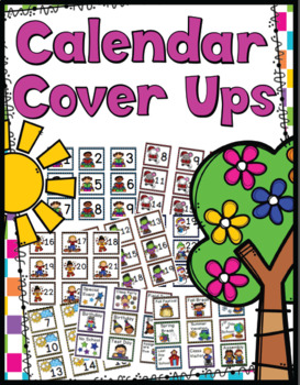 Calender Dates (Cover Ups) - 13 Monthly Sets & Holidays!