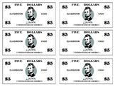 Classroom Cash ($1, $5, $10, $20, & $50)