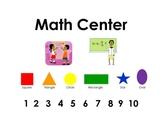 Classroom Center Signs