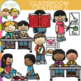 Little Shorties Classroom Centers Clip Art - Two