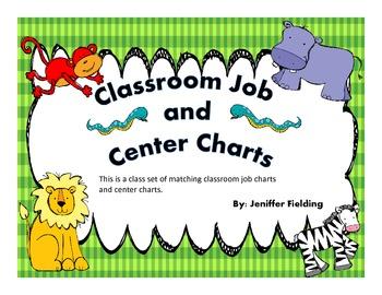 Classroom Centers and Job Charts ( Safari Themed)