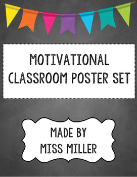 Classroom Chalkboard Motivational Posters