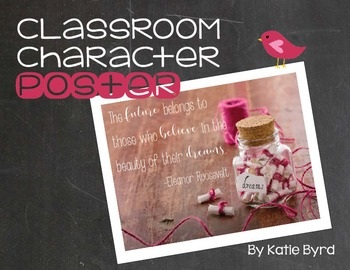 Classroom Character Poster - Believe in the Beauty of your Dreams