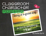 Classroom Character Poster - Great Day to Learn something New!