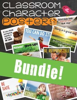 Classroom Character Posters - Growing BUNDLE!