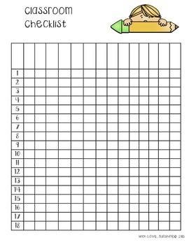 Classroom Checklist