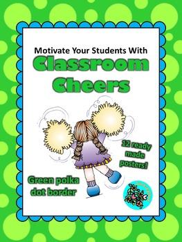 Classroom Cheers Green Polka Dot