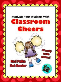 Classroom Cheers Red Polka Dot