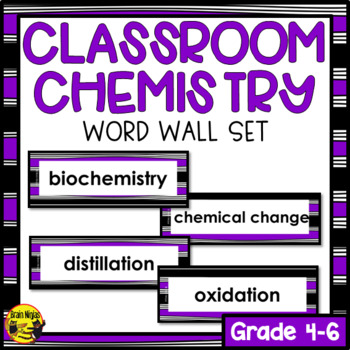 Chemistry Word Wall Words- Editable