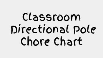 Classroom Chore Chart