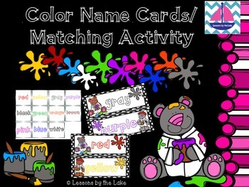 Classroom Color Signs & Matching Activity FREEBIE