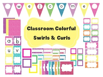 Classroom Decor Set~ EDITABLE~ Banner, Word Wall, Signs and More