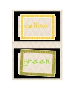 """Classroom Colors: """"picture framed"""" for hanging!"""