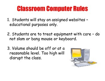 Classroom Computer Rules