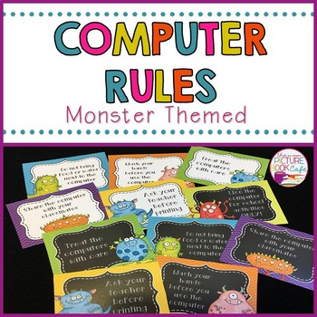 Classroom Computer Rules Posters (Monster Themed)