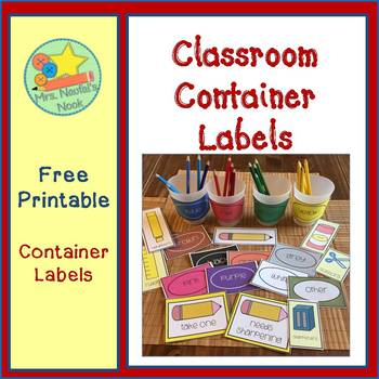 Classroom Labels - Free Printable