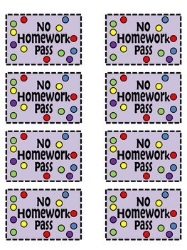 Classroom Coupon {FREEBIE} No Homework pass