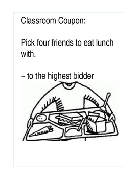 Classroom Coupon Lunch with Friends