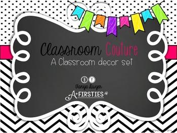 Classroom Couture {Black & White Decor}