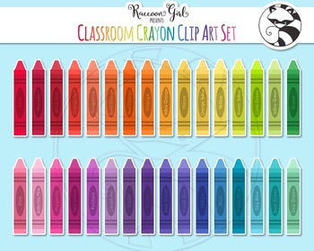 Classroom Crayons Freebie Clipart Set