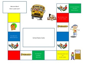 Classroom Crisis (file folder game board)
