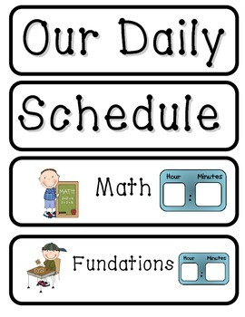 Classroom Daily Schedule