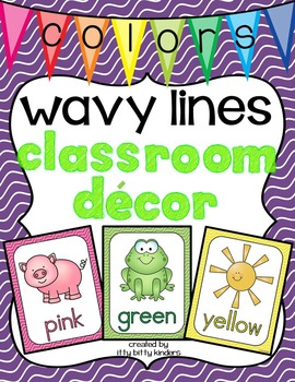 Color Posters: wavy lines