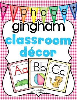 Alphabet Posters: gingham