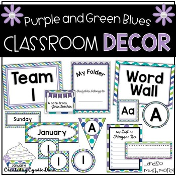 Room Themes: Purple Green Blue
