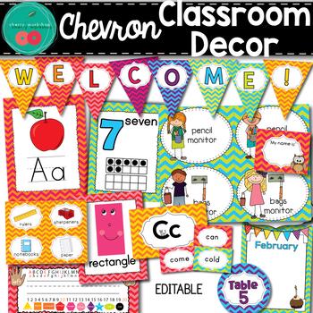 Chevron Classroom Decor Set