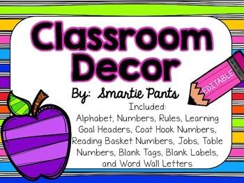 Classroom Decor- Bright Stripes