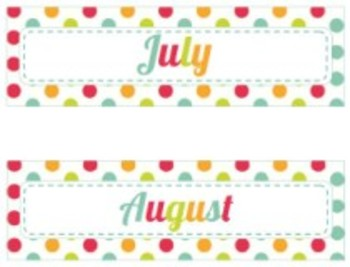 Classroom Decor By the SEA - Ocean Calendar Headers