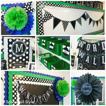 Classroom Decor Chalkboard & Polka Dot - Full Collection Bundle