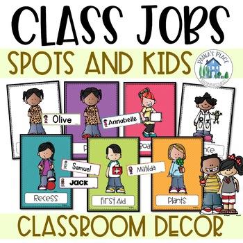 Classroom Decor - Classroom Jobs - Spots and Melonheadz