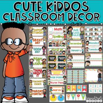 Primary Brights Classroom Decor Bundle Cute Kiddos Edition