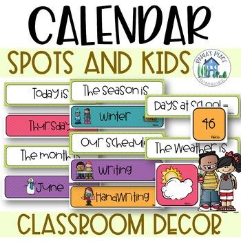 Classroom Decor - Daily Calendar and Schedule Cards - Spot